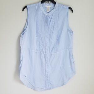 H&M Sleeveless Light Blue Button-down Tunic